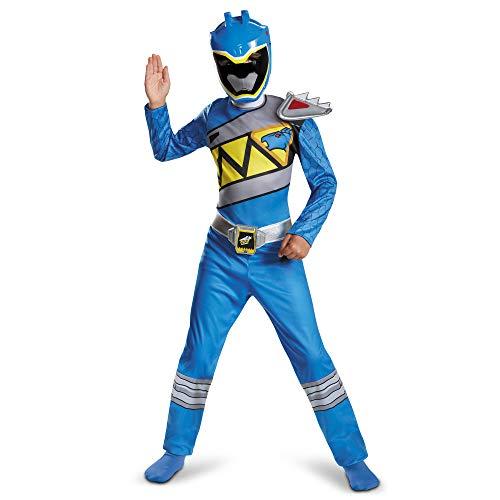 Power Rangers Costume For Boys Blue Dino Charge Kids Beast Morphers Ninja Dinosaur Blue Ranger For Kids Medium 7-8