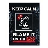 GREAT ART® Gaming Poster Schwarz Rot – Keep Calm –