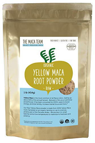 Rohes gelbes Maca Wurzel Pulver – 500g – bio- zertifiziert, frische Ernte aus Peru, Fair Trade, gentechnikfrei, glutenfrei, vegan, 50 Portionen