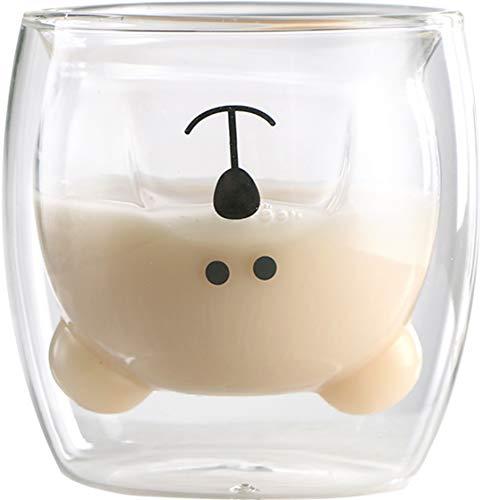 Qucover Tazza da caffè Orso Tazze da tè Bicchieri isolanti a Doppia Parete Tazza Simpatico Animale...