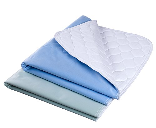 """Waterproof Reusable Incontinence Bed Pads Washable Incontinence Underpads 8 Cups Absorbency 2 Pack NonSlip Mattress Protector for Adults Kids and Pets28""""X 36"""" inch"""
