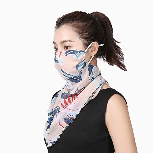 Anwasd7 Half FaceSummer Outdoor Riding Groothandel Mode Printen Vrouwen Grote hals Zonnebrandcrème Sjaal Rijden Shading Bib