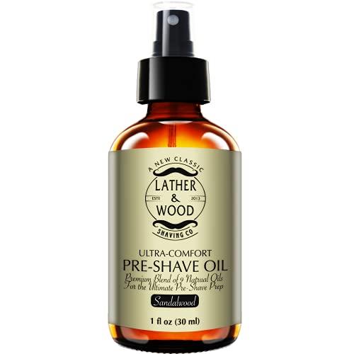 Best Pre-Shave Oil, Sandalwood, Premium Shaving Oil for Effortless...