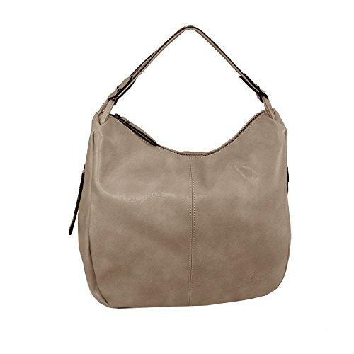 Glüxklee Damen Shopper Handtasche Paola (taupe)