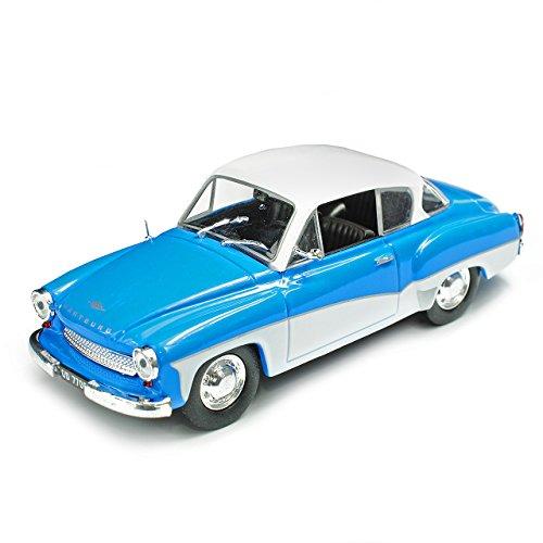 Unbekannt Wartburg 311 Coupe Blau mit Weiss 1955-1965 1/43 Modellcarsonline Modell Auto mit individiuellem Wunschkennzeichen