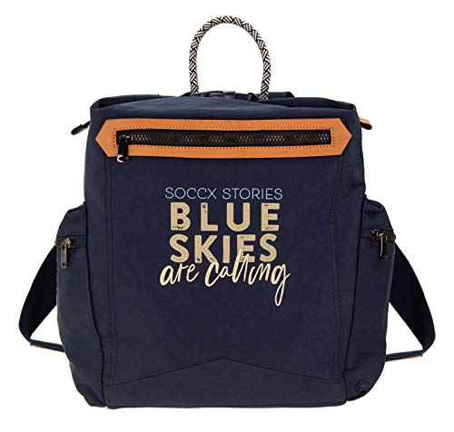SOCCX Sidney Backpack Dark Blue