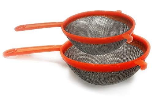 DEL - Küchensieb / Mehlsieb - Seihen & Sieben - Ø 16 und 20 cm - Orange - Set von 2