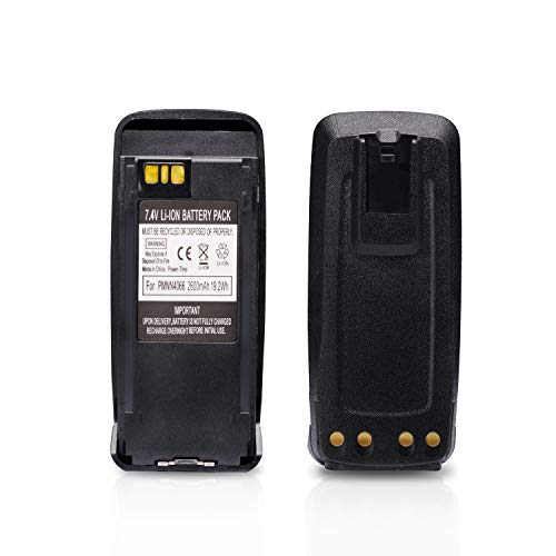 PMNN4077, PMNN4077C, PMNN4066 Battery, Compatible with Motorola XPR6550, PR6380, XIRP6500 and More Models, Click to Find Out More [2020 Upgraded Model, High Capacity, 2600mAh, 19.2Wh, 7.4V, Li-ion]
