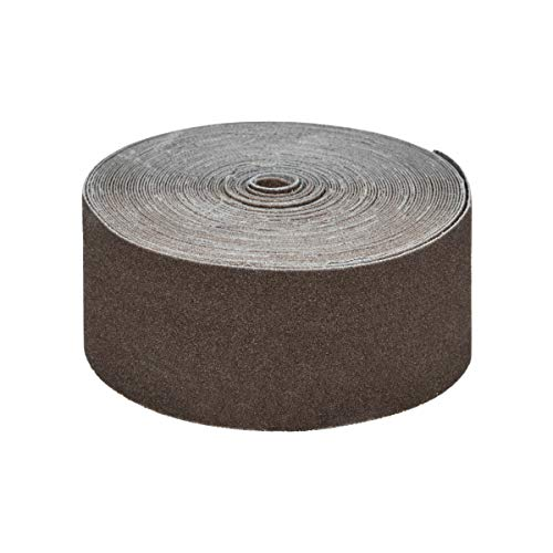 POWERTEC 49000 120 Grit Emery Cloth Sanding Paper Roll, 1-1/2-Inch x 10 Yards