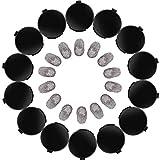 14 Piezas Almohadilla de Tinta de Huella Digital Almohadilla de Tinta de Dedo Borrable Secado Rápido con Impresiones Negras Claras para Identificación Seguridad, Redondo