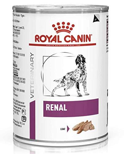 Royal Canin Renal Pienso húmedo para perros con problemas renales, 12 latas de 410g ✅