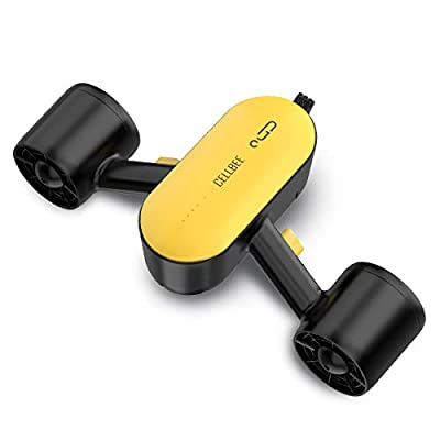 CellBee Underwater Sea Scooter with Camera Underwater Drone Dual Motors Max Depth 100FT 45min 4mph Water Sports Swimming Pool Diving for Kids Adults