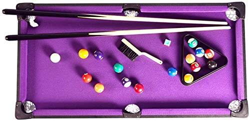 LINANNAN Kombination Spieltisch Kreative Tischbillardtisch Set und Zubehör Billardtische Ball Cues und Rack - Spaß Tragbare Familienspiele für Familienfeste Camping Road Trips,Lila,91x46x20cm