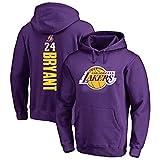 AMJUNM Men's Basketball Jerseys Hoodie NBA Lakers 24# Kobe Bryant Basketball Sweater Teen Sports T-Shirt