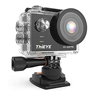 ThiEYE Action Camera 4K EIS 60M Underwater Waterproof WiFi Sports Camera Video Camcorder with 2 Batteries and Accessories Kit from ThiEYE