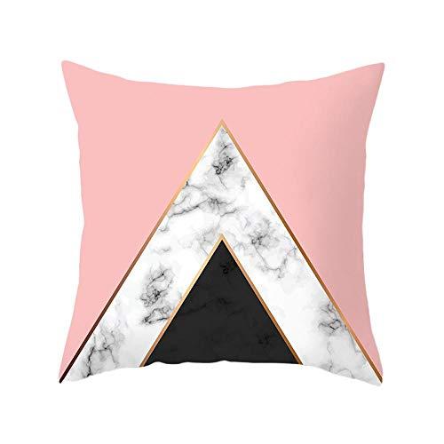 YYT 4 Piezas de Funda de cojín de sofá de Funda de Almohada Cuadrada de impresión geométrica de mármol-33_Los 45 * 45cm