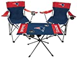 Rawlings NFL 3-Piece Tailgate Kit, 2 Gameday Elite Chairs and 1 Endzone Tailgate Table, New England Patriots