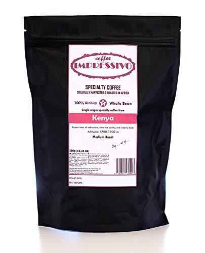 Kenia:: Impressivos Kaffeespezialität aus Kenia, 100% Arabica, Single Origin Ganze Bohnen, fachkundig in Afrika geröstet (nordischen Röstung), Top 5% Kaffee der Welt, 350g
