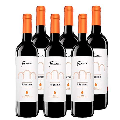 Vino de Toro Fariña Lágrima 2017 vino tinto elaborado con tinta de toro madurado 4 meses en barricas vino lágrima caja de 6 bot. x 75 cl.