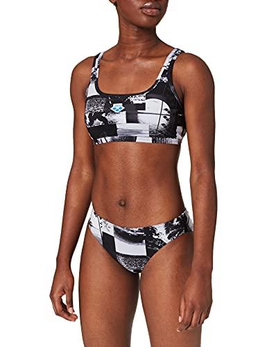 ARENA W Icons Team Stripe, Costume Intero Donna, Black Multi, 48