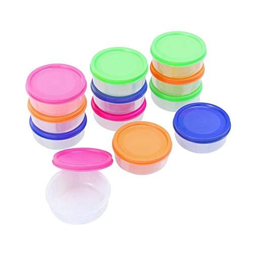EXCEART 12 Stück Babynahrungslagerung Babynahrungsbehälter Babynahrungsbox für Babys (Rosarot Grün Blau Orange 150Ml)