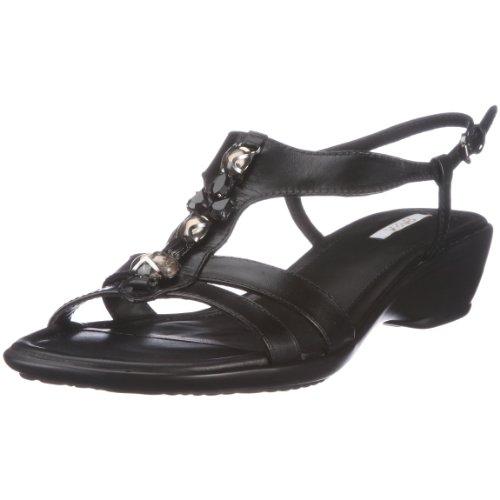 Geox D Coral B - Cinturino alla Caviglia da Donna, Nero (Nero), 36 EU