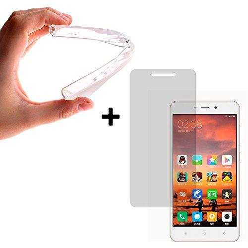 BeCool® - {Magic Pack} Funda Gel FLexible TPU transparente para Xiaomi Redmi 4A + Protector de Pantalla Cristal Vidrio Templado Premium