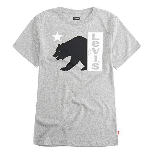 Levi's Boys' Little Graphic T-Shirt, Grey Heather Bear Logo 5