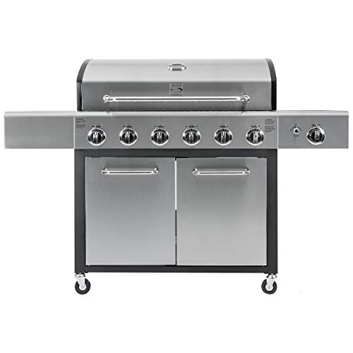 Kenmore PG-40611SOL-AM 6 Side Burner XL Grill, Black and Stainless Steel
