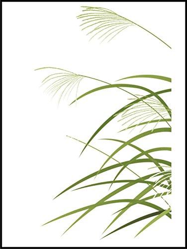 Fliesenaufkleber Fliesentattoos für Bad & Küche - für weiße Fliesen empfohlen - Küchenfliesen für einzelne Fließen 20x25 cm - MD032 - Reis in den Wind