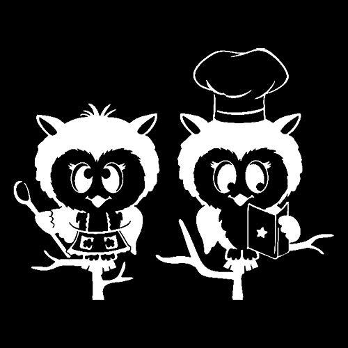 ZQZL Car Stickers 14.7CM*11.6CM cute boiled owl motorcycle black