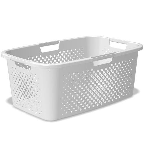 Sundis 4006001 Pixel Panier à linge, Plastique, Blanc, 58 x 38 x 23,5 cm