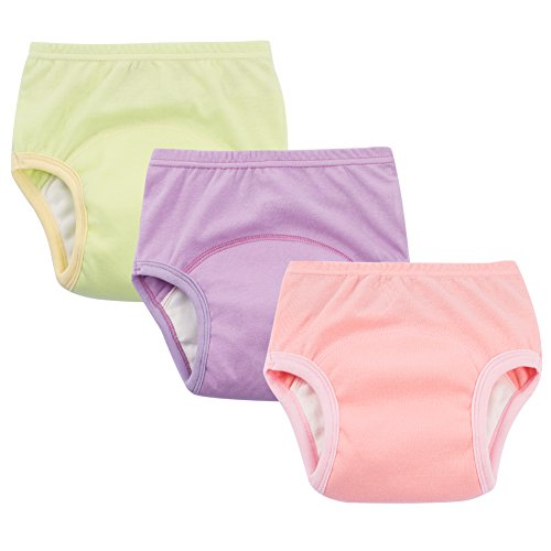 Toddler Girls Potty Training Pants Cotton Interlining Underwear Toddler 3-Pack, 4T