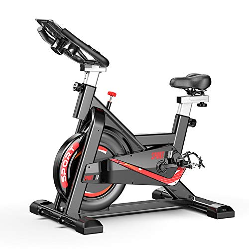 Hometrainer Indoor, spinnen fiets met Silent Belt Drive, Verstelbare Sturen & Seat, All-inclusive Vliegwiel, Home Office Gym, Black