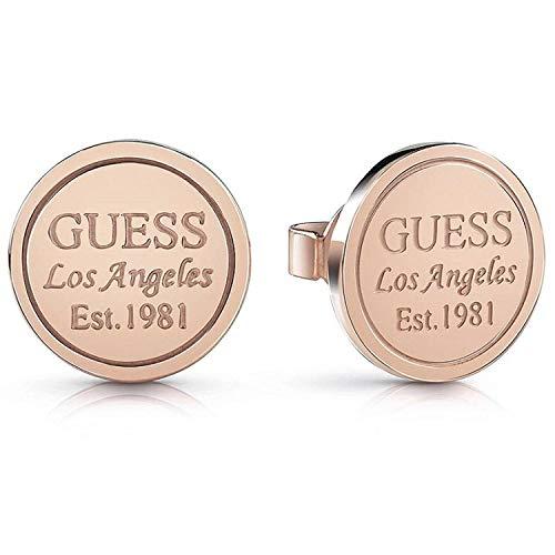Guess Pendientes de botón Mujer chapado en oro - UBE28036