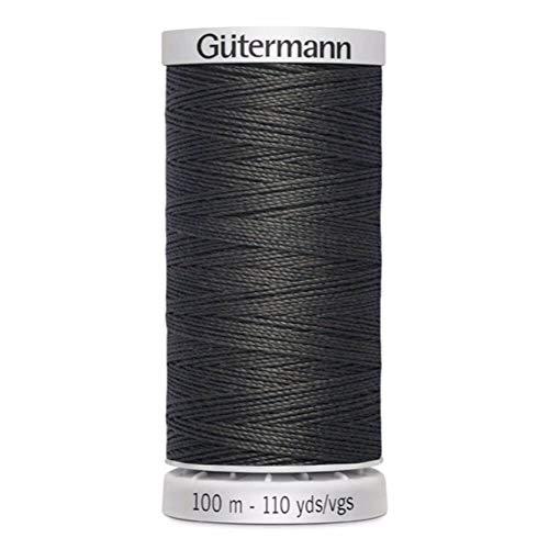 Gütermann Garn Extra Stark Nähgarn Polyester 100m Nähmaschinengarn Universal Reißfest UV Beständig Dunkelgrau