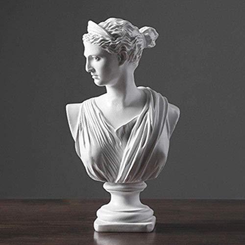 JLXQL Artículos Decorativos estatuas de Animales Figuras de jardín Escultura Estatua Yeso como Escultura Decorativa Figura Cabeza boceto Estatua artística