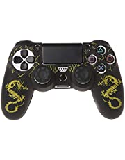 YUZI Silikonowe etui na rękaw, silikonowe smoki gamepad etui + 2 czepki joysticka kompatybilne z kontrolerem PS4