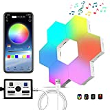 Hexagon Lights,Hexagon led Light, Hexagon Lights for Wall led APP Control & Music Sync 16 Million RGB Colors with Controller, led Hexagon Used for Gaming Room Bedroom Bar Decor/Preferred Festive Gift