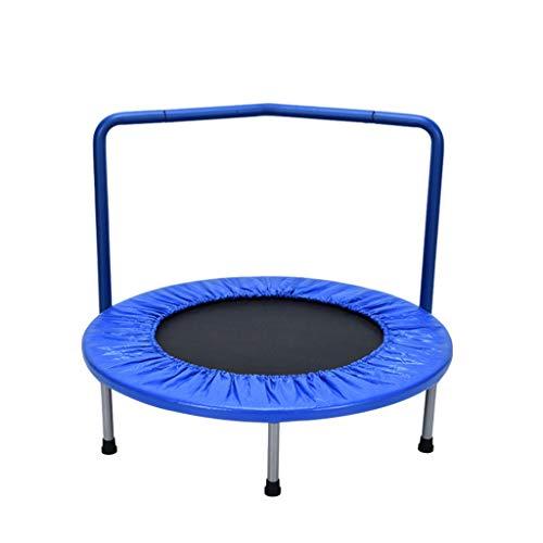 Trampoline de Fitness pour Enfants avec poignée, sécurité et Trampoline d'intérieur pour Tout-Petit, 3 Couleurs Disponibles (Color : Blue)