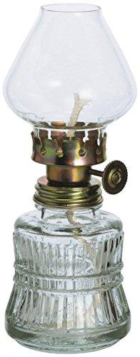 Lampara Estilo Antiguo de Cristal Transparente lámpara de petróleo con Laton Adornado...
