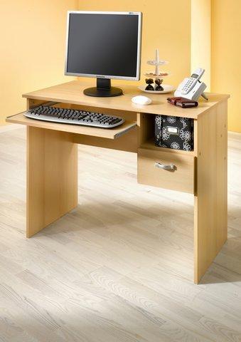 Möbeldesign Team 2000 Schülerschreibtisch Computertisch PC-Tisch buche 8049-1