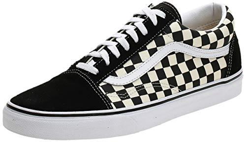 Vans Unisex Old Skool Classic Skate Shoes, (Primary Checkered) Black/White, 8.5 Women/7 Men
