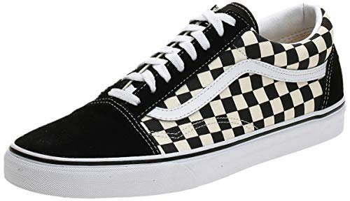 Vans Unisex Old Skool Classic Skate Shoes, (Primary Checkered) Black/White, 6.5 Women/5 Men