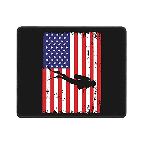 Vintage American Diver Down Flag USA Scuba Diving Dive Flag Cool Mouse Pad Gaming Mouse Pad for Gaming Laptop Computer Office Home