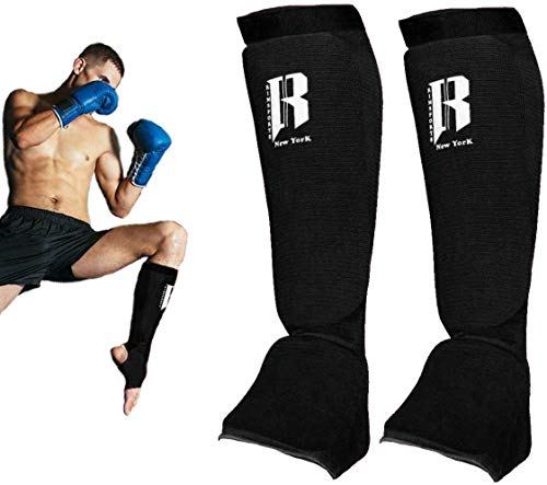 Sanabul Essential Hook and Loop Strap Kickboxing Muay Thai MMA Shin Guards
