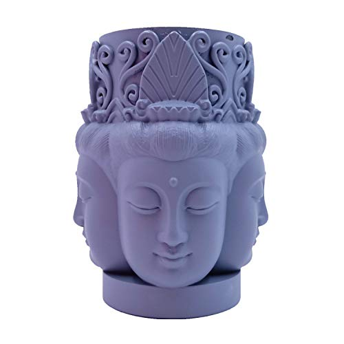 Four-Face Buddha Design Silicone Candle Mold 3D Buddha Candle Mould Decorating Silicone Molds for Resin Epoxy Gypsum Crafts Making