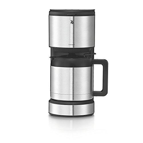 WMF Stelio Aroma Cafetera de 1000 W con jarra térmica de 1 L para 8 tazas e indicador de nivel de agua en el exterior, acabados de acero inoxidable de cromargan mate, antigoteo