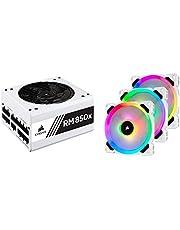 【セット買い】Corsair RM850x White -2018-850W PC電源ユニット 80PLUS GOLD PS830 CP-9020188-JP & LL120 RGB -White- Triple Pack PCケースファン 12cm FN1280 CO-9050092-WW