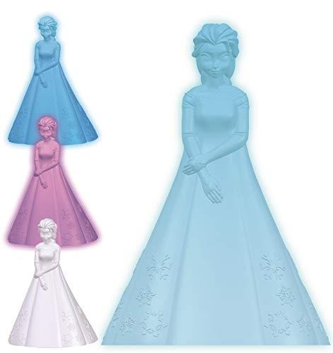 LEXIBOOK NLJ110FZ Disney Frozen Noche Multicolor con Elsa, quitamiedos fría y Segura NLJ110FZFrozen, Luz Nocturna de Color para niños
